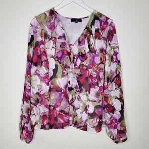 Evan Piccone Floral Long Sleeve Blouse